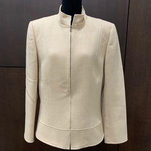 Tahari Arthur Levine Herringbone Jacket Blazer 12